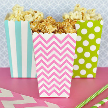 Do It Yourself Popcorn and Treats Favor Boxes