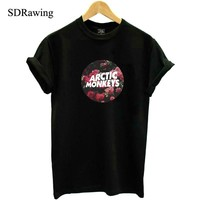 Harajuku Arctic Monkeys Band Print Cotton Casual t shirts tees Shirt For Top Plus Size Hipster Latest woman clothing