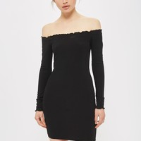 Frill Edge Bardot Dress