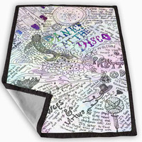 Design Panic At The Disco Lyric Quotes Blanket for Kids Blanket, Fleece Blanket Cute and Awesome Blanket for your bedding, Blanket fleece *