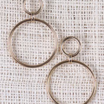 Two Dangle Linked Hoop Earrings