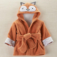 Personalized Fox Hooded Spa Robe- Personalized Gifts, Personalized Baby Shower Gift, Personalized Clothing, Baby Clothing