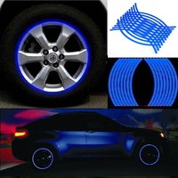 14 15 16 17 18 19 inch Motorcycle Car sticker reflective wheel hub Tire rims sticker Wheel Sticker Reflective Rim Stripe