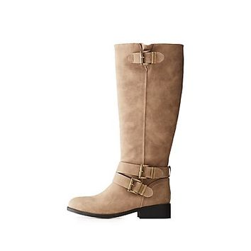 Qupid Buckled Riding Boots | Charlotte Russe