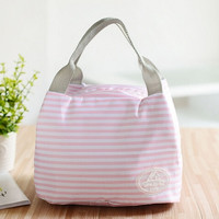 Portable Thermal Insulated Lunch Container Lunch Box Storage Bag Picnic Carry Totes Pouch Lunchbag