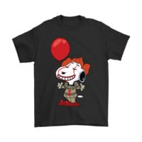 IT Pennywise Do You Want A Balloon Snoopy Stephen King Shirts