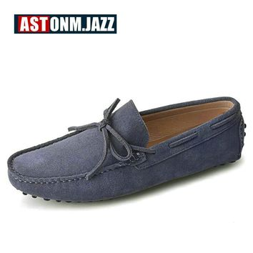 Men's Casual Suede Driving Shoes Slip-on Penny Loafers Leather Boat Shoes Breathable Flat Shoes Casual Shoes Men's Loafers