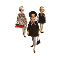 """1960's McCall's 7947 Girl's Dress,Jumper and Coat Size 2 