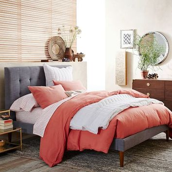 Belgian Linen Duvet Cover + Shams – Rose Bisque