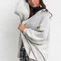 AMUSE SOCIETY Oatmeal Heather Get Down Sweater Cardigan