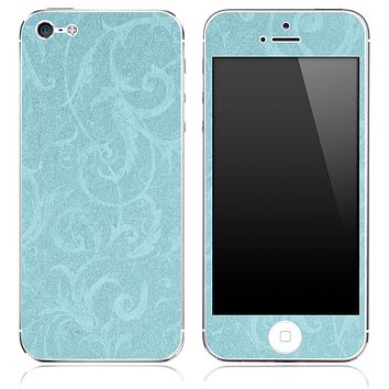 Subtle Blue Laced Pattern Skin for the iPhone 3, 4/4s or 5