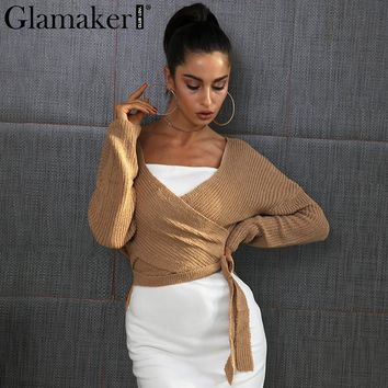 Glam Wrap Sweater
