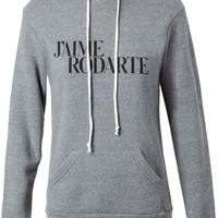 Rodarte 'Love Hate' hooded sweatshirt