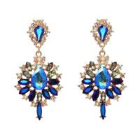 Fashion Alloy diamond earrings 3 color