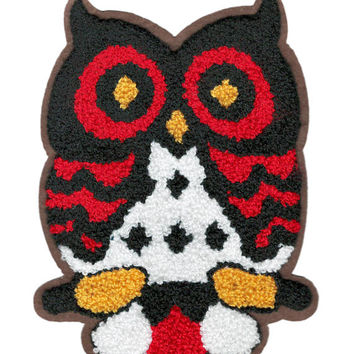 ON SALE 15% OFF Xl Extra Large 18cm Chenille Owl Patch Applique