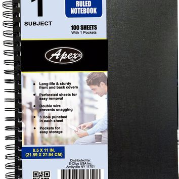 College Ruled Double Wire Notebook - 100 Sheets - CASE OF 36