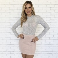 Making Moves Skirt in Blush Pink