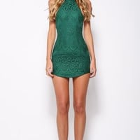 Sugar Babe Dress Forest Green