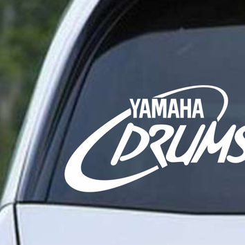 Yamaha Drums Percussion Die Cut Vinyl Decal Sticker