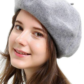 DCK4S2 HH HOFNEN Children's and Women's 100% Wool French Beret Hat (2 Sizes)