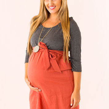 Actually Adorable Maternity Dress in Charcoal