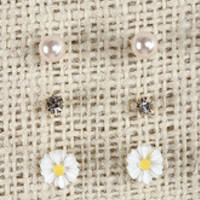 Triple Pair Stud Earrings