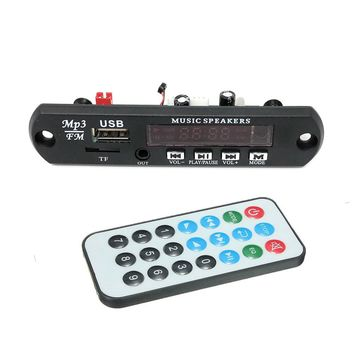 5V 12V Car Bluetooth 4.2 mic  MP3 Decoder Board Decoding Player Module Support FM Radio USB / TF LCD Screen Remote Controller
