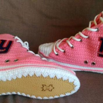 DCKL9 New York Giants Converse, New York Giants Pink Shoes, New York Giants, Women's And Men
