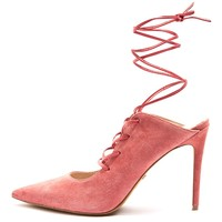 GIGGLE GHILLIE Pointed Tie-Up Heel Court Shoes   Topshop