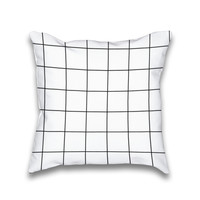 Simple Hipster Square Grid Pattern Throw Pillow