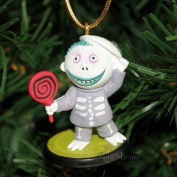 Licensed cool NEW Disney NIGHTMARE BEFORE Christmas BARREL HENCHMAN MASK Holiday Ornament PVC