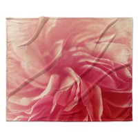 "Cristina Mitchell ""Pink Petals"" Floral Rose Fleece Throw Blanket"