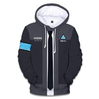 Hot Detroit Become Human 3D Print Hoodies Men/women With Streetwear Men's Hoodies and Sweatshirt 3D Detroit Become Human Clothe