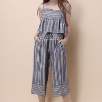 Let It Stripe Cami Top and Pants Set