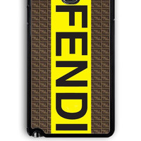 Samsung Galaxy Note 3 Case - Rubber (TPU) Cover with fendi logo Design
