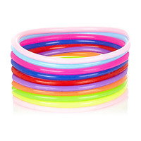 River Island Girls neon jelly bracelets