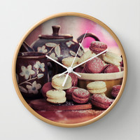 Teatime Treats Wall Clock by micklyn