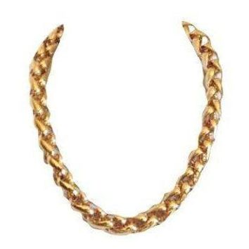 Pre-owned Napier Vintage Heavy Chain Necklace Signed