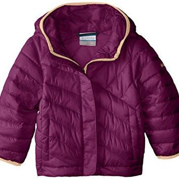 Columbia Big Girls' Powder Lite Puffer Jacket, Dark Raspberry, Large
