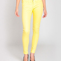 Flying Monkey Skinny Jeans L7422 in Yellow