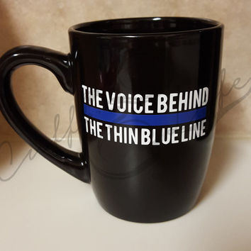 Thin Blue Line Dispatcher Coffee Mug