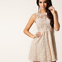 Lace Flower Trim Dress, Lipsy