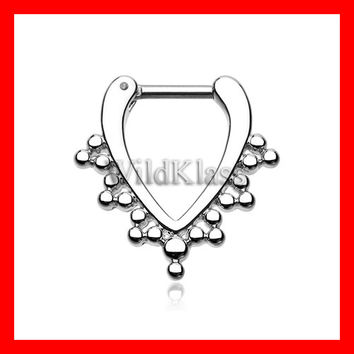 Septum Clicker 16g 14g Regent Drape Filigree Septum Ring Earring Cartilage Piercing Tragus Ring Helix Conch Nose Belly Nipple