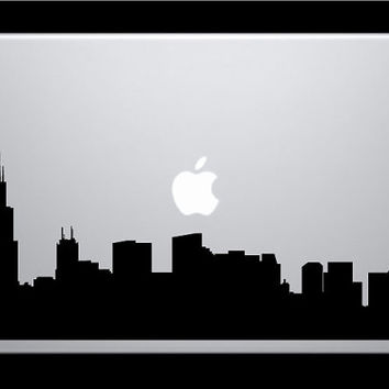 Chicago Skyline Macbook Decal / Macbook Sticker / Laptop Sticker