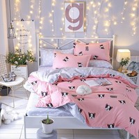 Bedding set Queen size 4pc Duvet cover sets Twin Full size   Duvet Cover Home Textile  Dropshipping Dog for boy gife