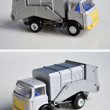 Berliet Dinky Toy, Old French Toy, Vintage Scale Diecast Model, Berliet Gak, Berliet Refuse Lorry, Waste Disposal Retro Car Model, Dinky Car