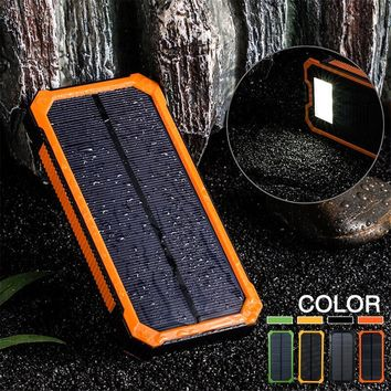 SGODDE 300000mAh Mini Solar Charger Outerdoor Tool 5V Power Bank With Cavo Box Moschettone Camping For Outerdoor Hot Sale