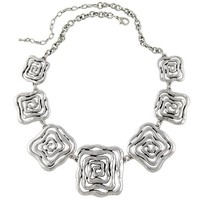 2017 New Arrival Choker Necklace Fashion Women Silver Plated Flower Chunky Chains Statement Necklace Ethnic Jewelry