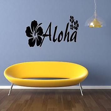 Aloha quote wall sticker quote decal wall art decor 4607