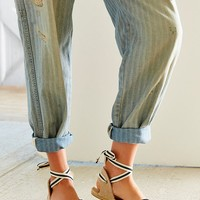 Soludos Classic Canvas Stripe Espadrille Sandal   Urban Outfitters